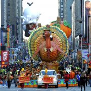 The Thanksgiving Turkey float  during the 85th Macy's Thanksgiving Day Parade in New York November 24, 2011. The parade, which has been an annual event since 1924, is expected to draw an estimated 3 million spectators and 50 million television viewers, according the retail store. AFP PHOTO / TIMOTHY  A. CLARY (Photo credit should read TIMOTHY A. CLARY/AFP/Getty Images)